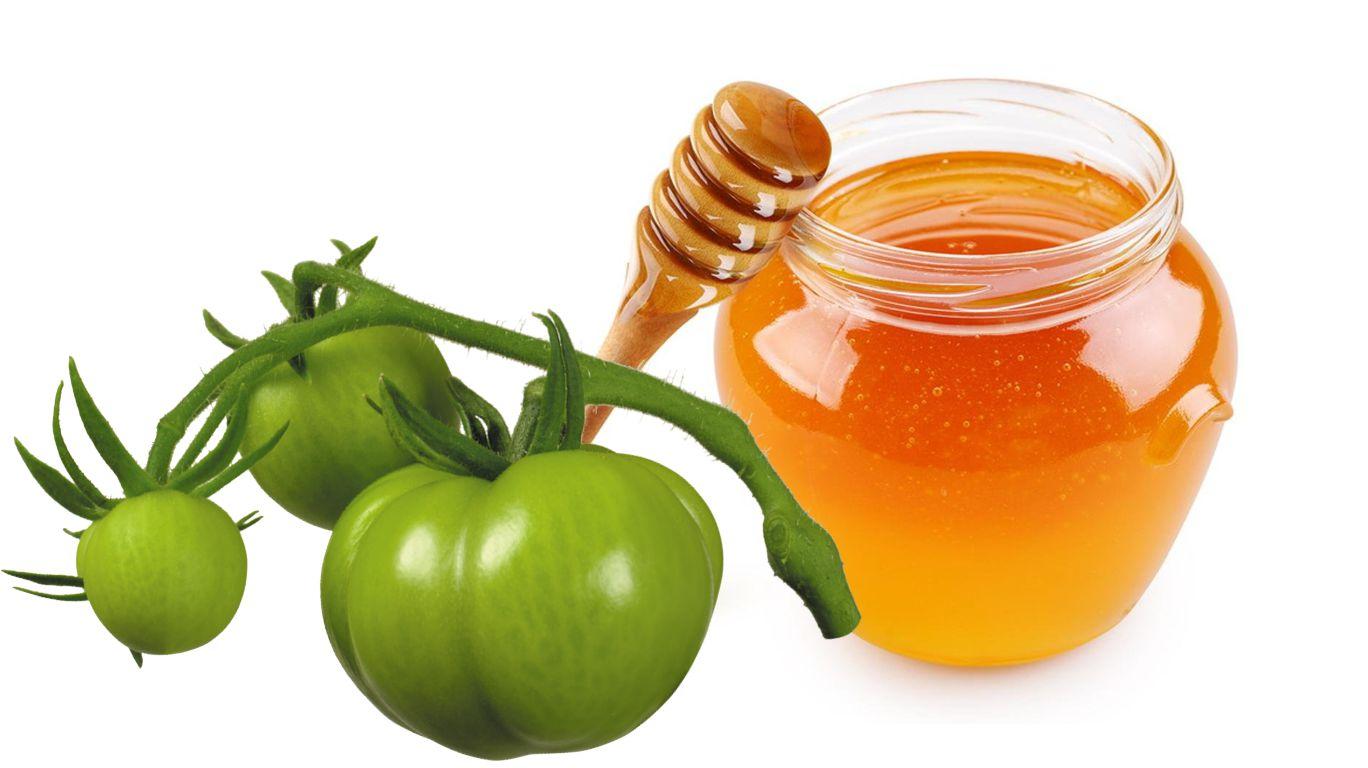 Зелёные помидоры с мёдом