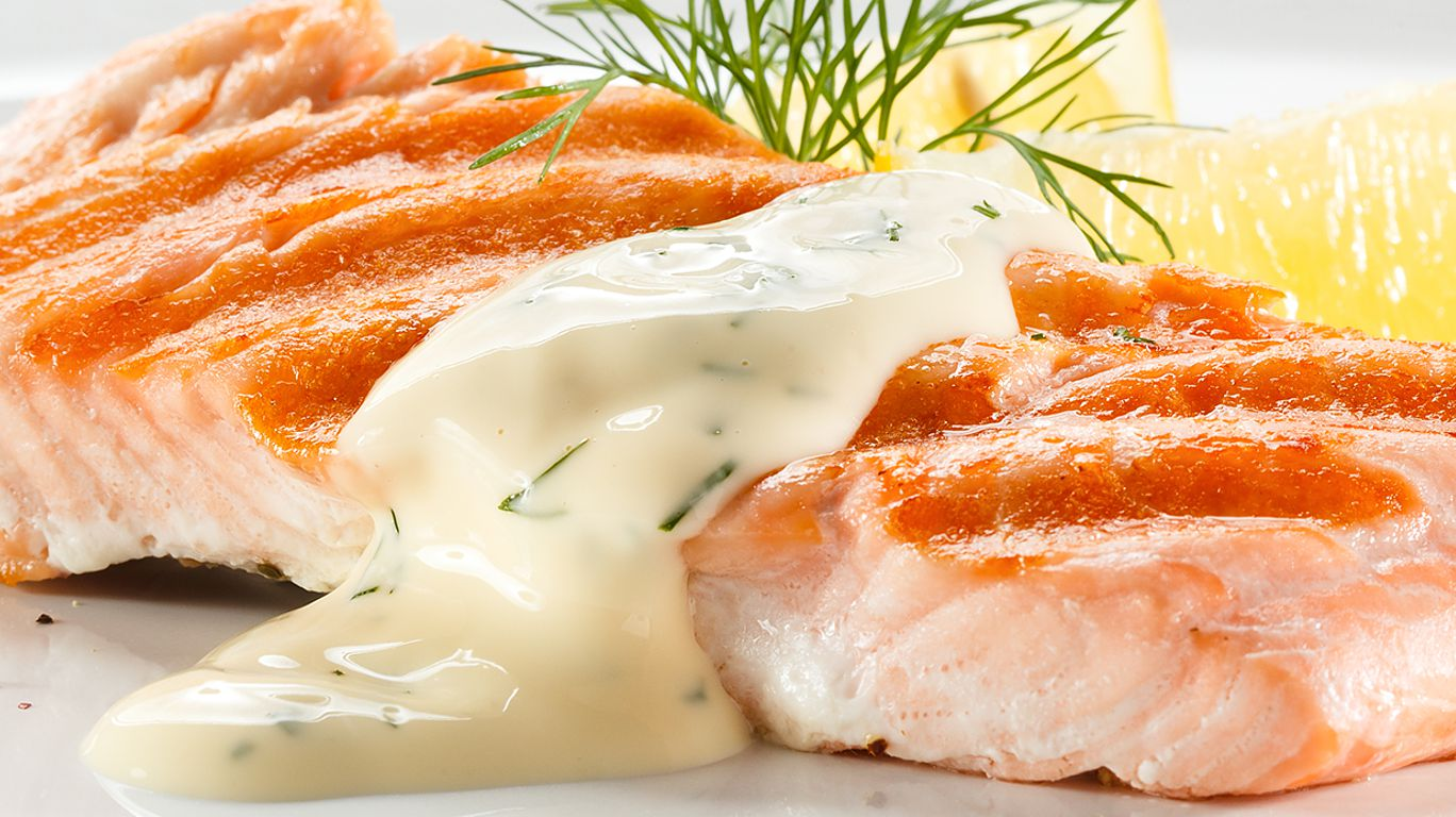 Рыба в белом соусе