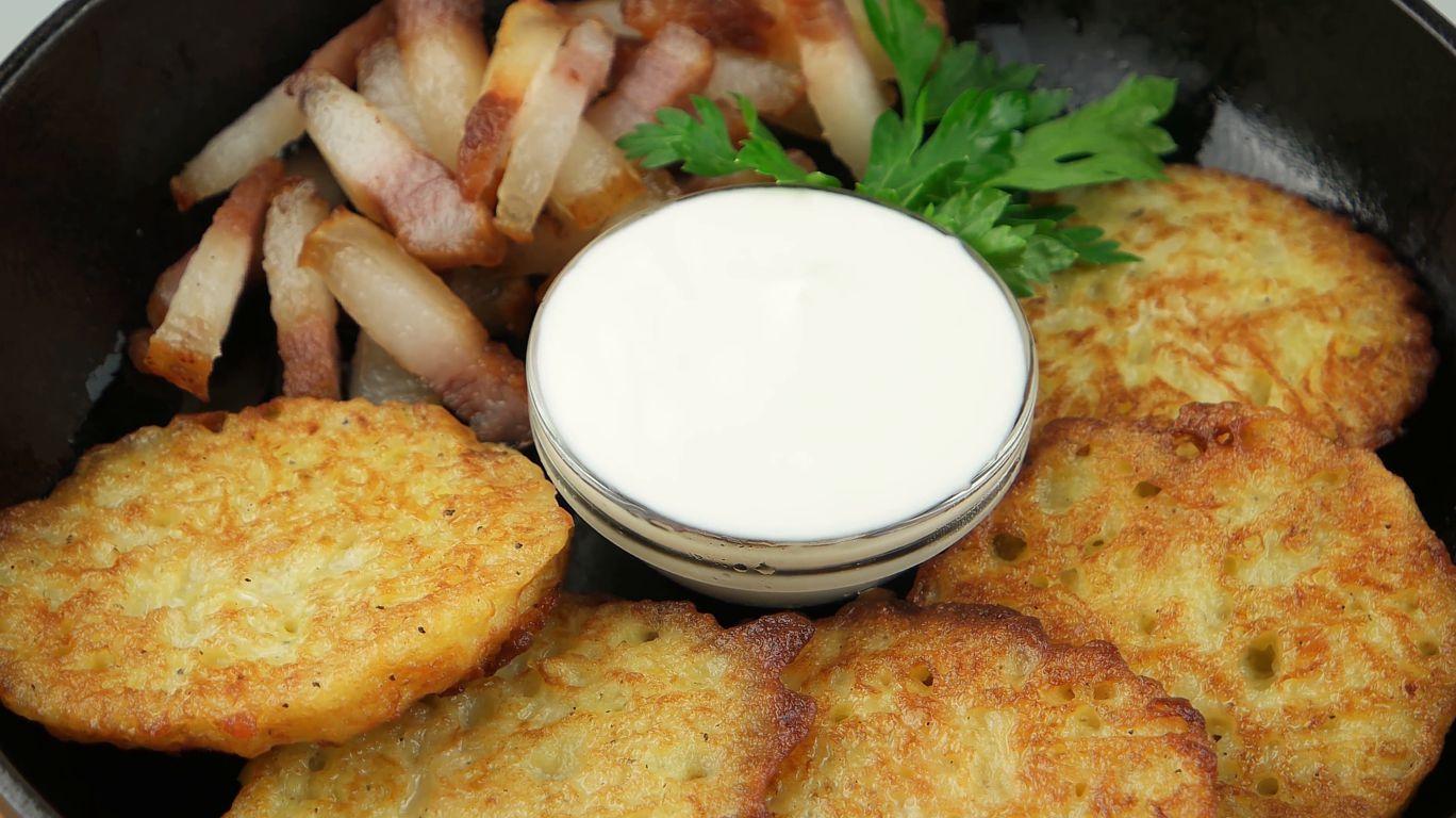 Блины из картофельного пюре