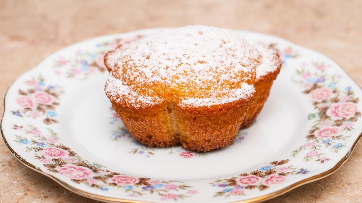 Обычный кекс на маргарине