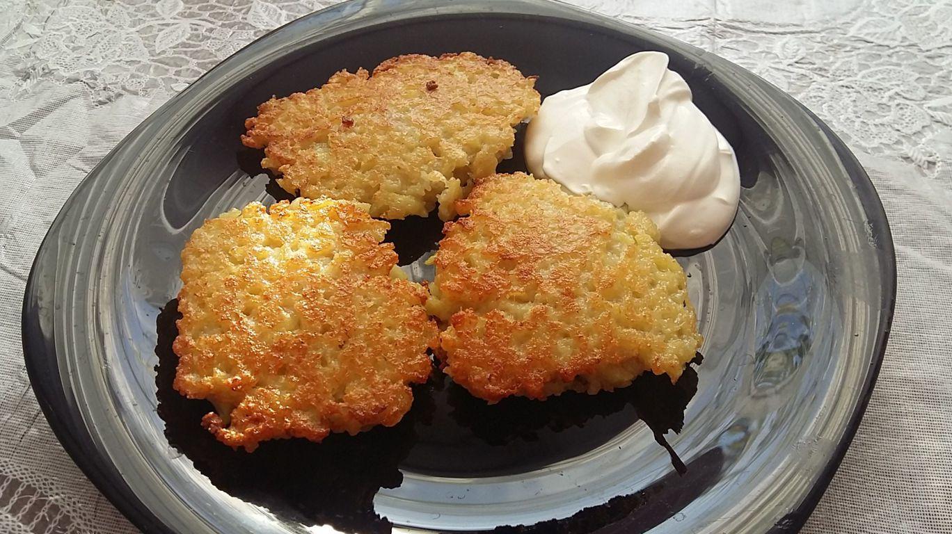 Драники из варёного картофеля