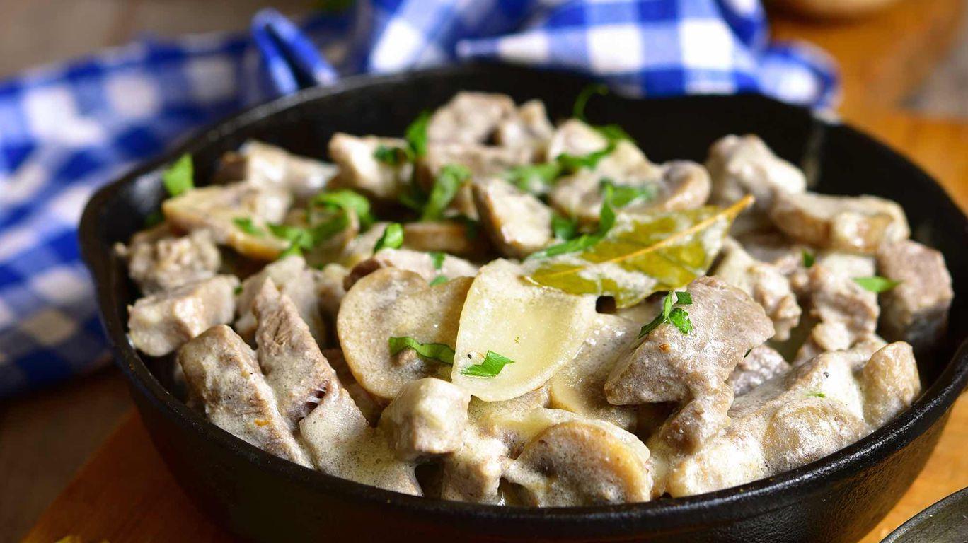 Мясо картофелем