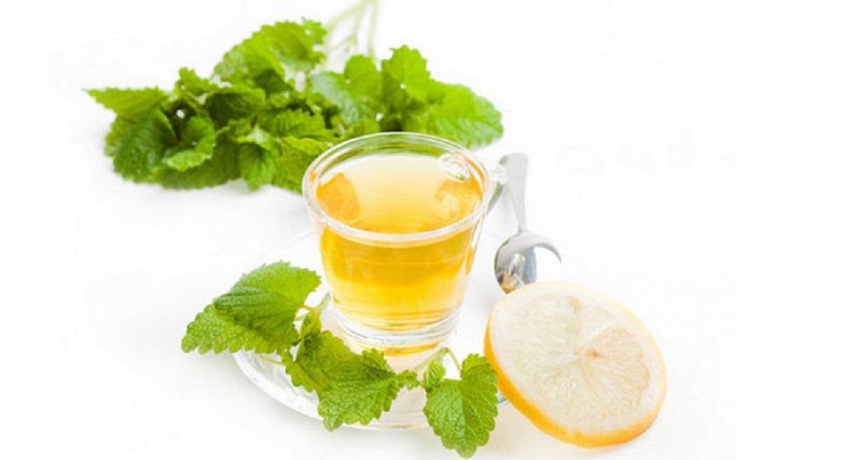 Чай с лимоном, мелиссой и душицей