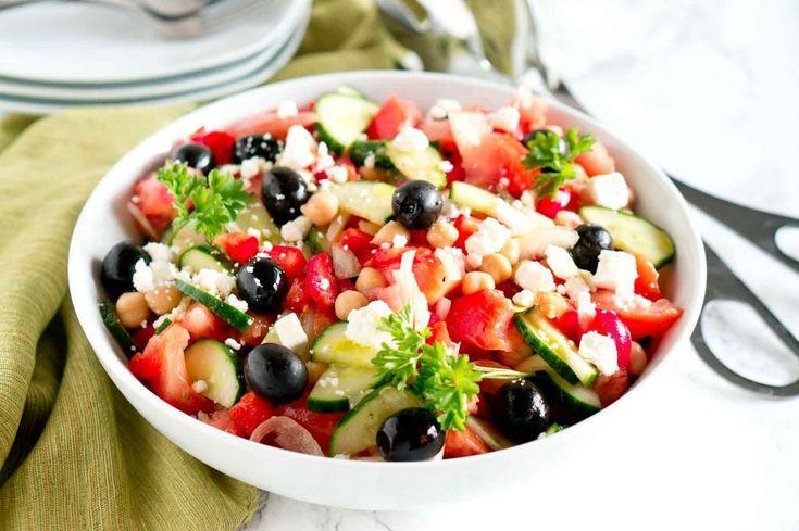 Греческий салат рецепт классический с фасолью